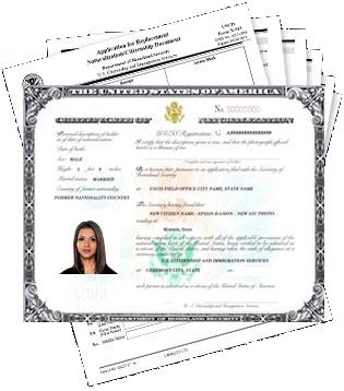 Naturalization Certificate Application