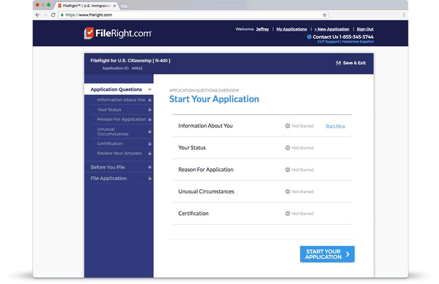 Complete sus formularios de inmigración con nuestro programa